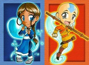 Картинка аватар легенда об аанге зуко и катара